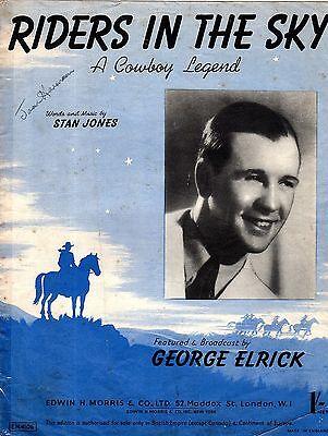 Sheet Music: RIDERS in the SKY A Cowboy Legend (Vaughan MONROE)