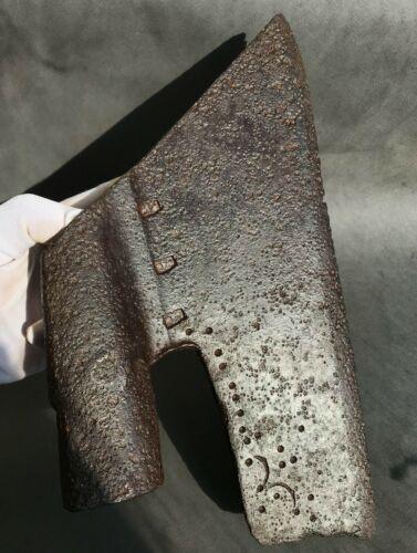 large battle ax Berdish hallmarks Rus 16 -17 cent.  iron wide long-tree 1648gr
