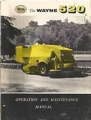 Wayne 520 Street Sweeper Operation Maintenance Manual