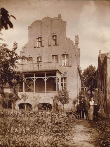 Germany+JUGENDSTIL-VILLA+%2F+ART+NOUVEAU+Architecture+%2A+%22L%22+Vintage+Photo+1918