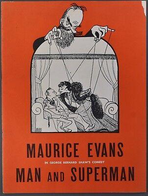 1940s MAURICE EVANS Man and Superman Souvenir Theater Program
