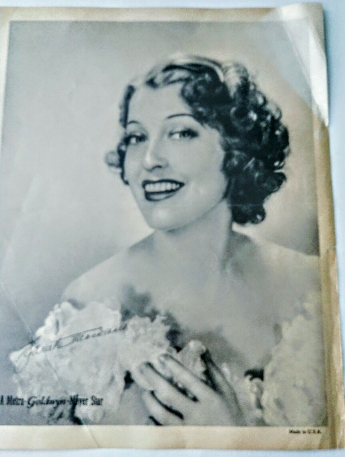 Jeanette MacDonald Publicity Photo From 1938 With Bonus Advertising  - $25.00