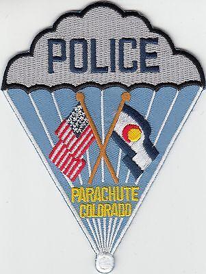 PARACHUTE COLORADO CO POLICE SHOULDER PATCH