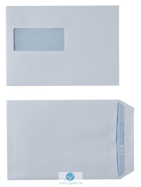 100 Recycled Business Envelopes C5 White Self Adhesive Windowed 100gsm 162x229mm