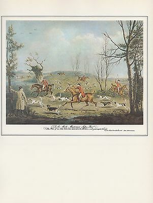 """1972 Vintage Currier /& Ives /""""PUZZLED FOX/"""" FIND HIDDEN PIC Color Print Lithograph"""