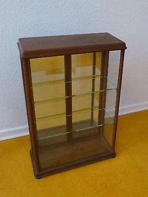 Vitrine Glas Holz Verkaufsvitrine Kolonialwaren Tante Emma Laden um 1900