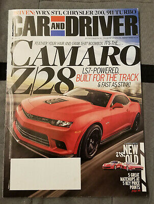 Car and Driver May 2014 5/14 Camaro Z28 Corvette Testarossa WRX Porsche 911 Car And Driver Wrx