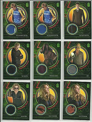 Topps Doctor Who Extraterrestrial Encounters Costume Relic Card # 199, 299, 499 - Costumes Doctor Who