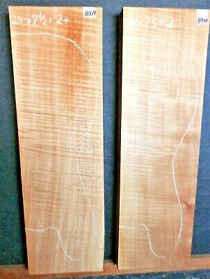 Adornada Madera de Arce 8539-40 Luthier 2 Eléctrico Bajo Palanquillas 24x 7.5x...