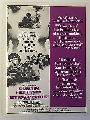 Distributor's Promo movie Flyer ~ STRAW DOGS, 8.5 x 11
