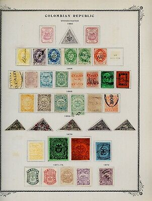 Colombia Classic Selections: ALBUM PAGE LOT #3 - SEE SCAN $$$