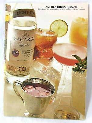 Vintage 1973 Bacardi Rum Party Book Recipes for Drinks Punches Snacks 29 pages