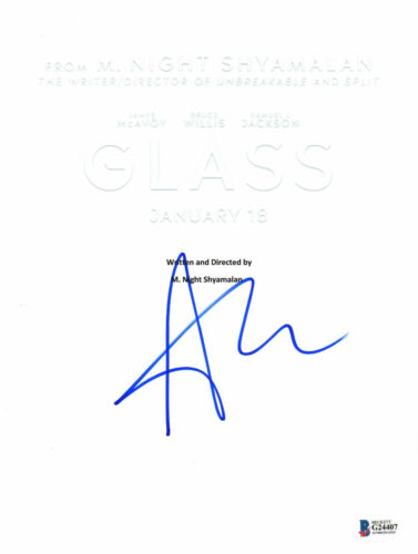 ANYA TAYLOR JOY SIGNED 'GLASS' FULL SCRIPT SCREENPLAY BECKETT BAS