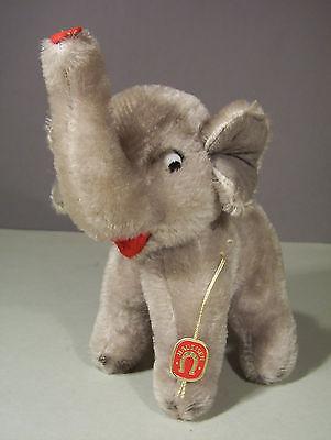 50/60er Elefanten Baby, Richard Haueisen Gehren und Seelbach, Elefant mit Schild