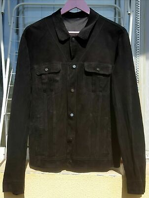 Salvatore Santoro Italian Men's Luxury Suede Leather Jacket Size EU50/US40 Italy
