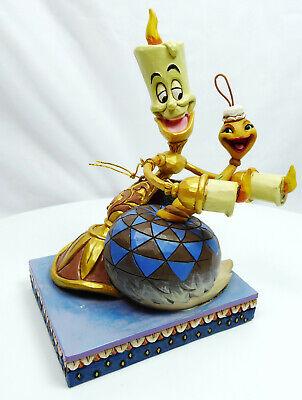 Disney Enesco Traditions Shore Figur schöne Biest Lumiere und Plumette 6002814