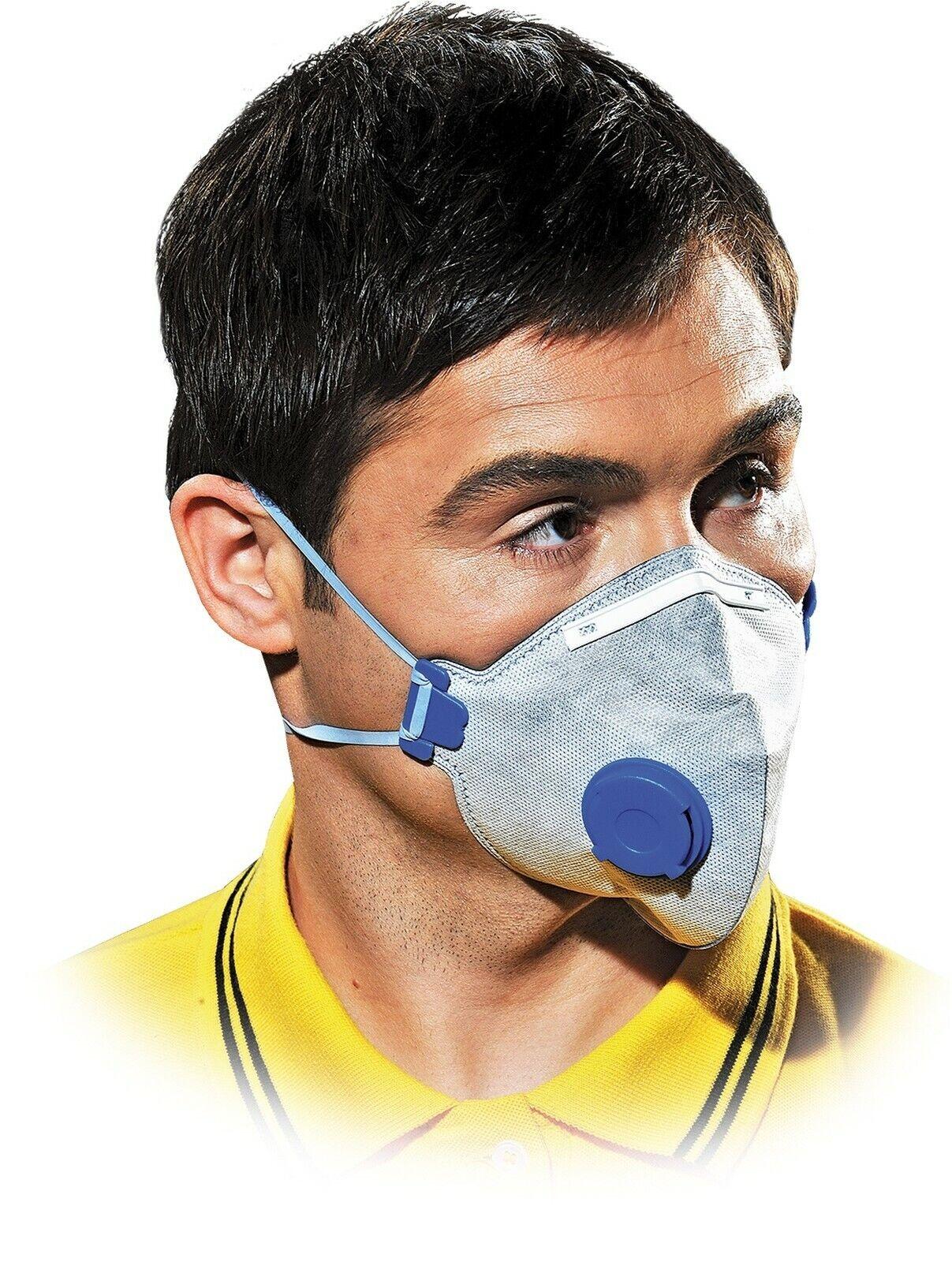 FFP2 Feinstaubmaske mit Ventil Staubmaske Mundschutz Schutzmaske Atemschutzmaske