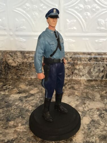 1950s Massachusetts  State Police Trooper hand made and painted resin figurine