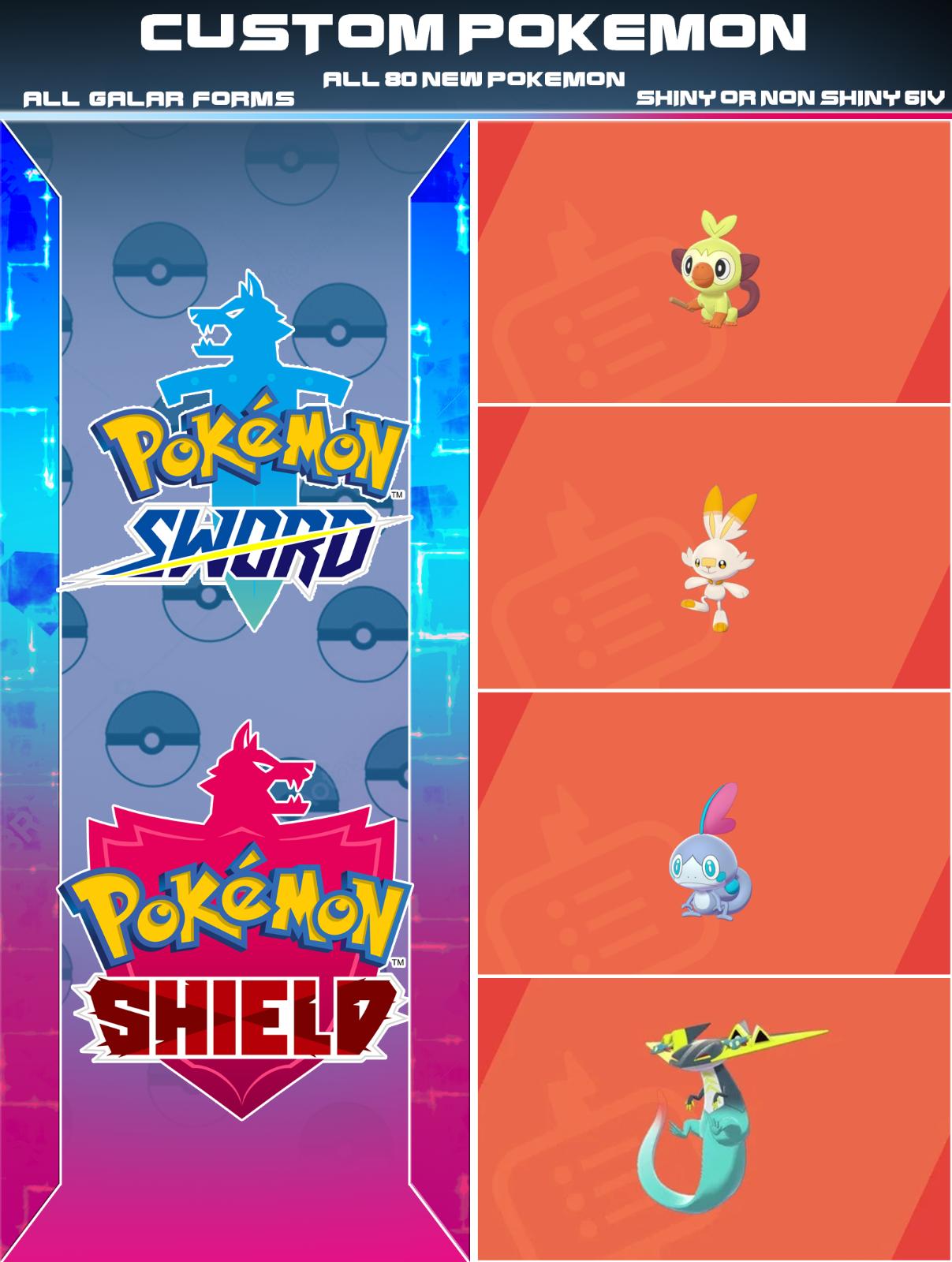6IV Ultra Shiny Popplio Pokemon Sword and Shield Square Shiny