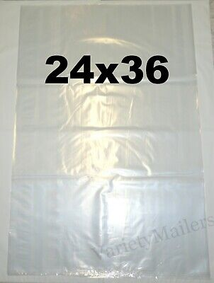 7 Extra Large 24x36 Sturdy 2 Mil Clear Flat Plastic Merchandise Bags