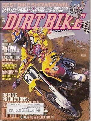 DIRT BIKE - March 1993 - Phil Lawrence / Best Bike Showdown / Racing