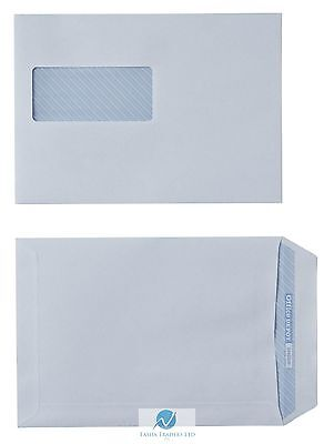 10 Recycled Business Envelopes C5 White Self Adhesive Windowed 100gsm 162x229mm (10 Recycled Business Envelopes)