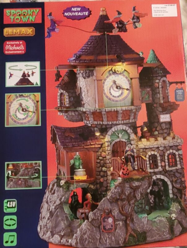 Lemax The Witching Hour w/ Adapter Spooky Town Halloween Village