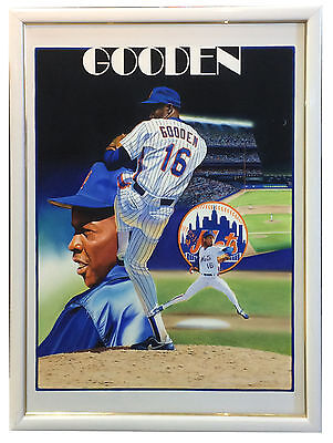 d27004c80 Terrence Fogarty signed original Doc Gooden Canvas painting auto framed COA  1/1