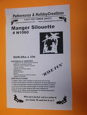 NATIVITY MANGER SILHOUETTE N1060,CHRISTMAS WOODWORKING PATTERN YARD ART PLANS](Manger Silhouette)