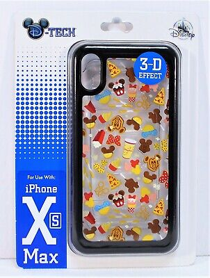 Disney Snacks & Treats 3-D Effect Apple Iphone 10 XS Max Cellphone Case NEW CUTE
