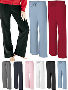 Bella-Womens-S-M-L-XL-2XL-Cotton-Fleece-Pant-Yoga-Sport-Sweatpants-b7017-Ladies
