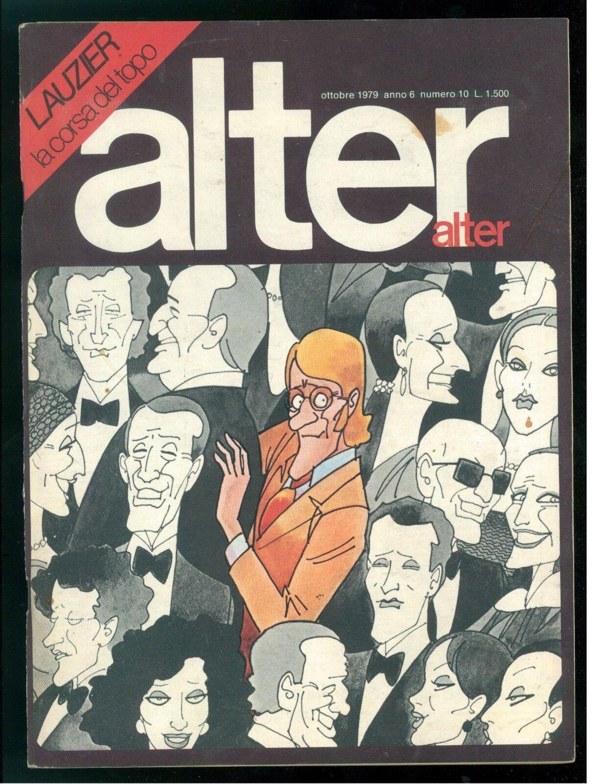 ALTER ALTER OTTOBRE 1979 NUMERO 10 LAUZIER MOEBIUS WILL EISNER FRANK BELLAMY