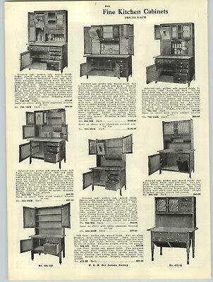 Wooden Kitchen Cabinets (1916 PAPER AD 2 PG Wood Wooden Kitchen Cabinets Hoosier Type Golden Oak Deluxe )