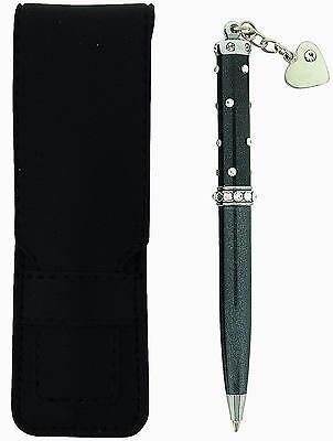 Jimmy Crystal Black Ladies Metallic Swarovski Crystal Black Ink Pen Gift Pouch