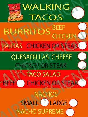 Tacomexican Menu Sign-wprice Circles Concession Trailerstandcart 18x24 Pvc
