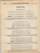 1908 PAPER AD Hexagon Split Bamboo Fly Fishing Rod ...