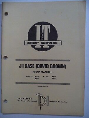 It J I Case David Brown Service Shop Repair Manual 1190.1490.1290.1390.1690