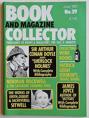 BOOK & MAGAZINE COLLECTOR #39 - 6/1987 - Sherlock Holmes, James Joyce