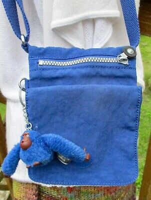 KIPLING Eldorado Blue Shoulder Bag Crossbody Purse Travel