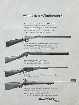 """1961 AD(XG13)~WINCHESTER CO. NEW HAVEN, CONN. """"WHAT IS A WINCHESTER"""""""