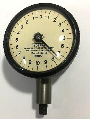 Mahr Federal B3q Dial Indicator 0-.050 Range .0005 Graduation