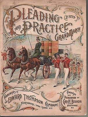 Pleading and Practice Grand March Large Format Law Books Sheet Music
