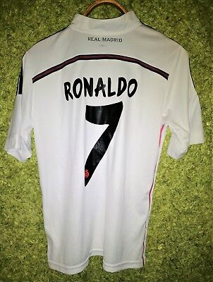 f8621223a85 REAL MADRID 2014 2015 HOME  7 RONALDO FOOTBALL SHIRT SOCCER JERSEY SIZE M