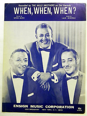 Mills Brothers Sheet Music When  When  When  Ensign Publ  Jazz Pop Group Vocals