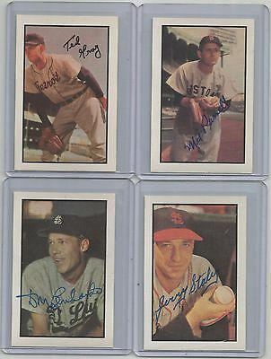 1953 BOWMAN-reprint-AUTO-signed DON LENHARDT card #20 SL BROWNS baseball team