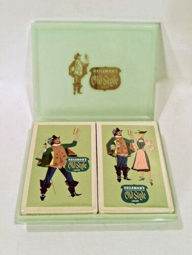 Vintage 1940's 50's Old Style Lager Beer NOS Sealed Playing Cards Never Used