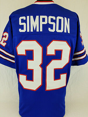 O J  Simpson Unsigned Custom Sewn Blue Football Jersey Size   L  Xl  2Xl