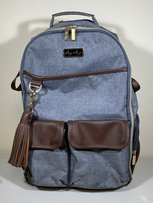 Itzy Ritzy Diaper Bag Backpack –  Heather Gray Large Capacity Boss Backpack NICE