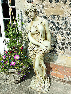 4ft Stone Effect Lady Water Garden Statue Figure Large Ornament Sculpture Girl