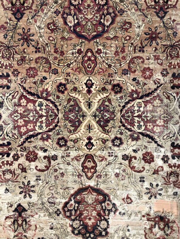 Fantastic Floral - 1880s Antique Oriental Rug - Handmade Carpet - 8.6 X 11.4 Ft.